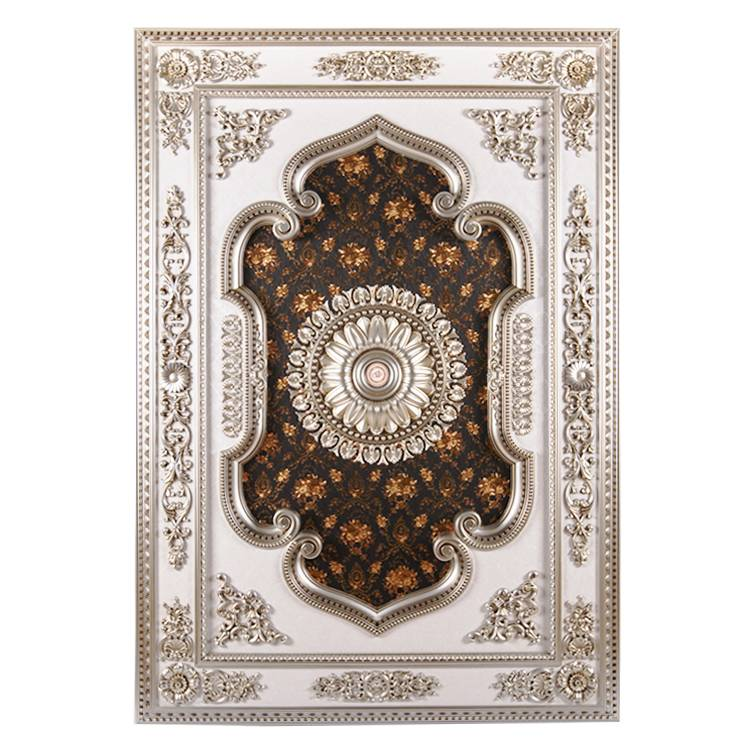 Banruo New Coming Classic Silver PS Rectangle Ceiling Chandelier Molding for Home Lighting Decoration