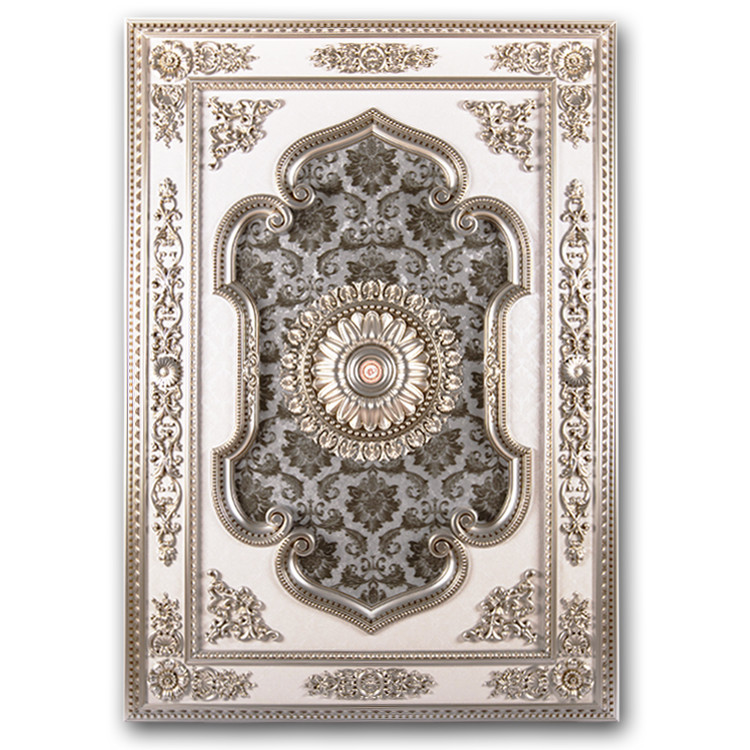 Banruo New Coming Silver PS Rectangle Flat Ceiling Tiles Design Material Panel Top Wall Board for Home Lighting Decoration