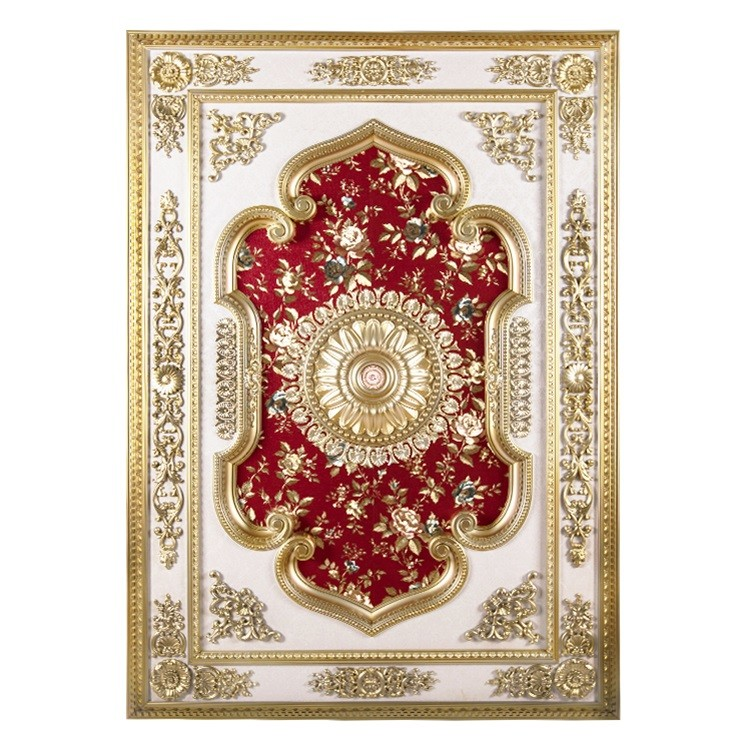 Banruo New Arriving Red PS Rectangle Top Wall Board Ceiling Tiles Design Material Panel for House Lighting Decoration
