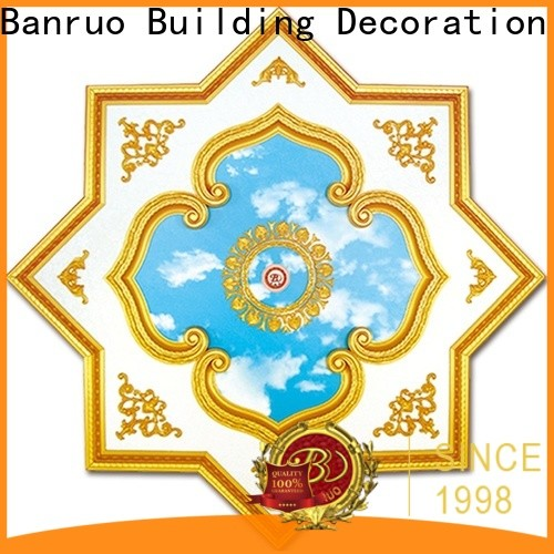 Banruo oem ceiling medallion chandelier molding from China for architecture