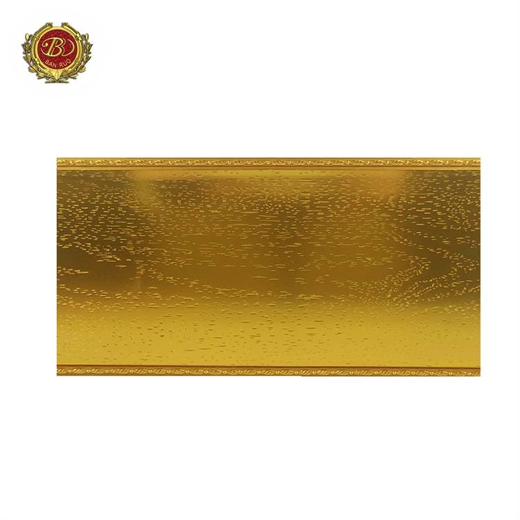 Banruo Cheap Price Polystyrene Gold Room Crown Moulding Line for Decoration