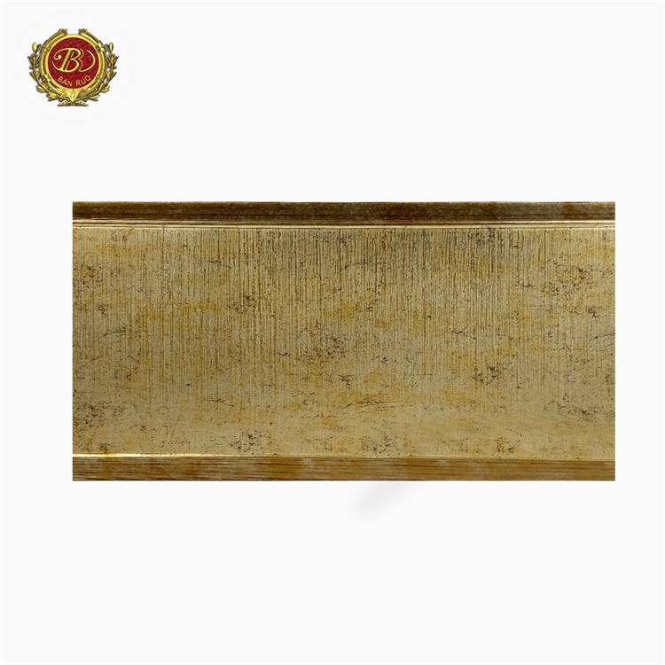 Banruo New Design High Quality PS Golden Panel Moulding