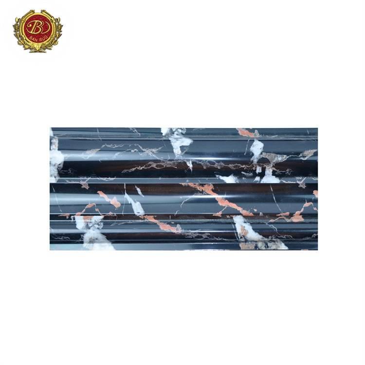 Banruo Waterproof Ps Inside Decorative Wall Moulding Marble Pattern Cornice