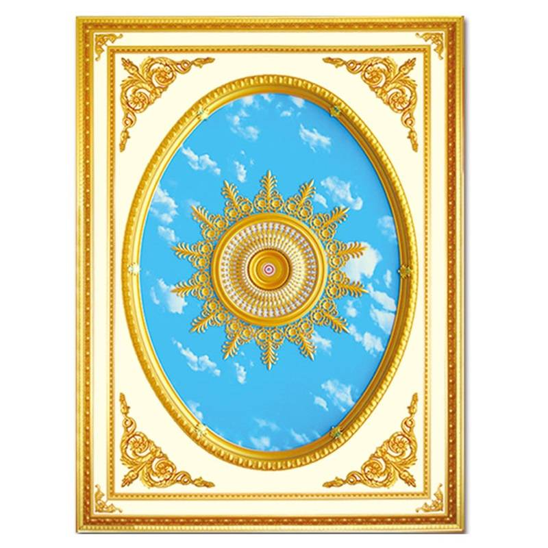 Banruo European style PS plastic lightweight rosette ceiling panel top wall board molding for home building decoration