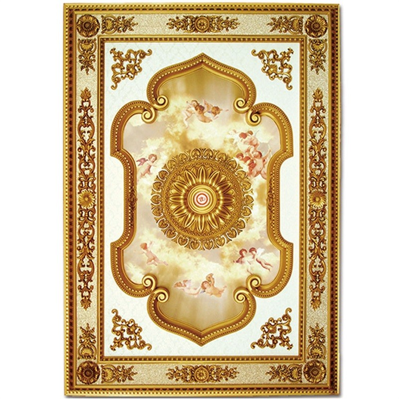 Banruo new artistic style rectangle decorative suspended ceiling tile panel accessories for interior home decoration