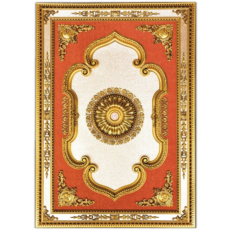 Banruo New Classical Plastic PS Board Rectangle Vintage Ceiling Medallions for Ceiling Light Decoration