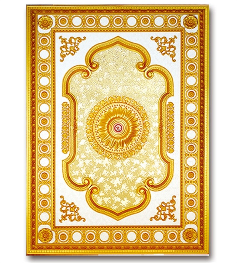 Banruo New Classical Artistic Ceiling Board Plastic PS Decorative Ceiling Plate Tiles Panel for Light Decoration