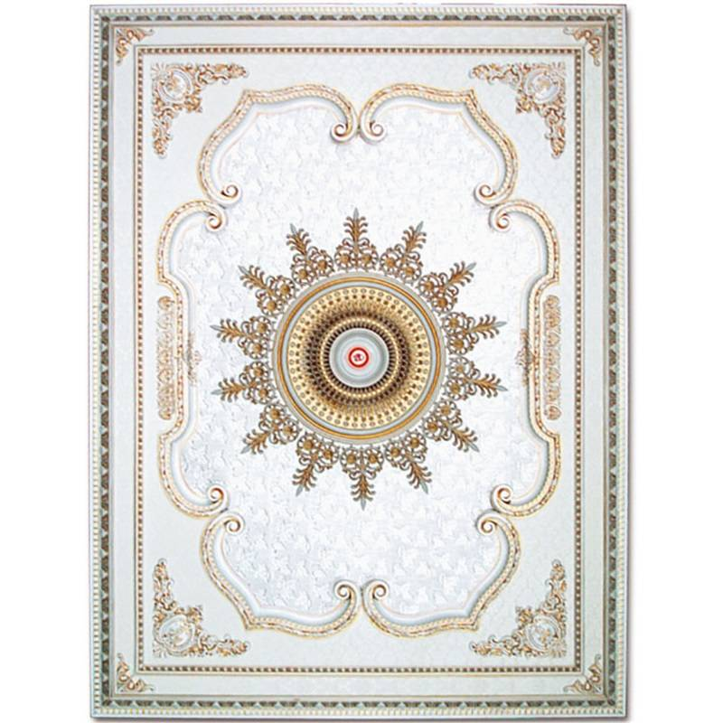 Banruo high-level Artistic Rectangle Rosette Ceiling Top Wall Board Panel for Bedroom Decoration