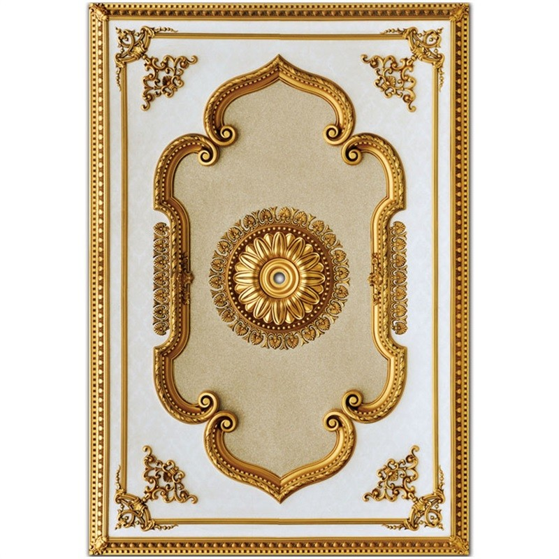Banruo Classic PS Artistic Decorative Ceiling Panel Ceiling Tile Board for Light Decoration