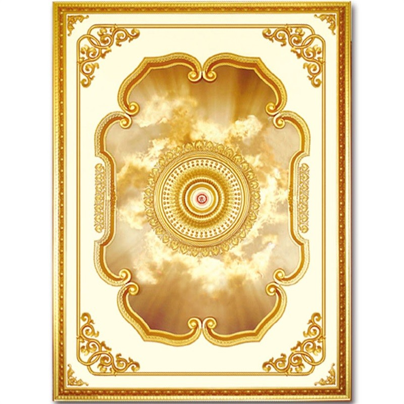 Banruo European Church Style PS Plastic Ceiling Panel Tiles Ceiling Board Decoration