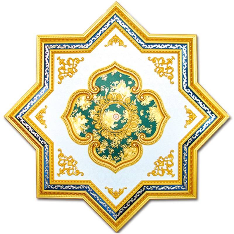 Banruo Artistic Star Style PS Plastic Building Material Ceiling Panel Board For Luxurious Lamp Decoration