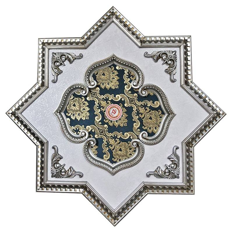 Banruo New Arrival Ceiling Pop Design PS Material Ornate Ceiling Medallions Tiles For Decoration