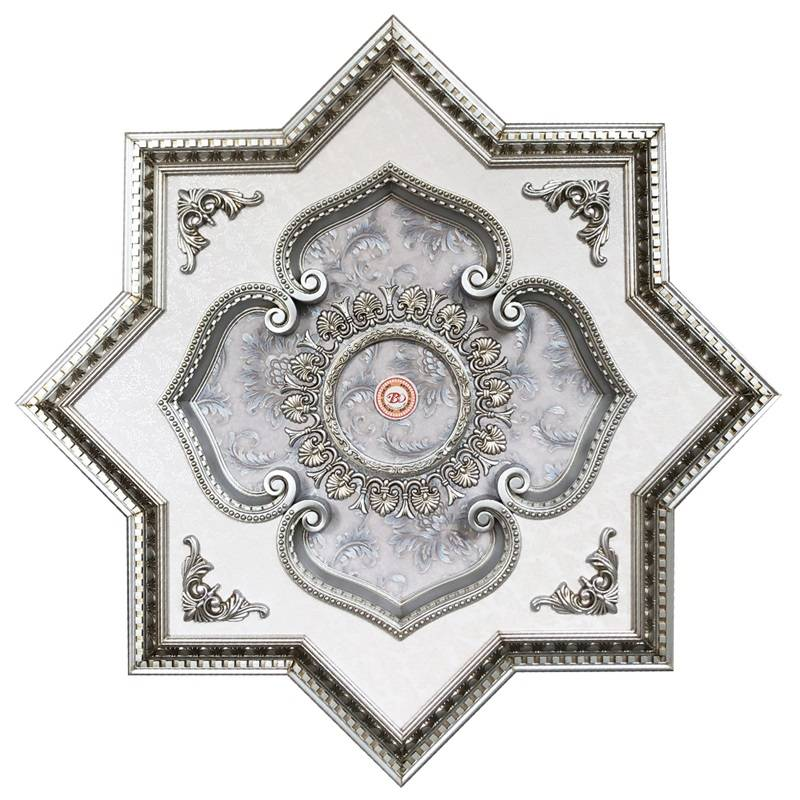 Banruo New Arrival Ceiling Pop Design PS Material Ceiling Medallions Tiles For House
