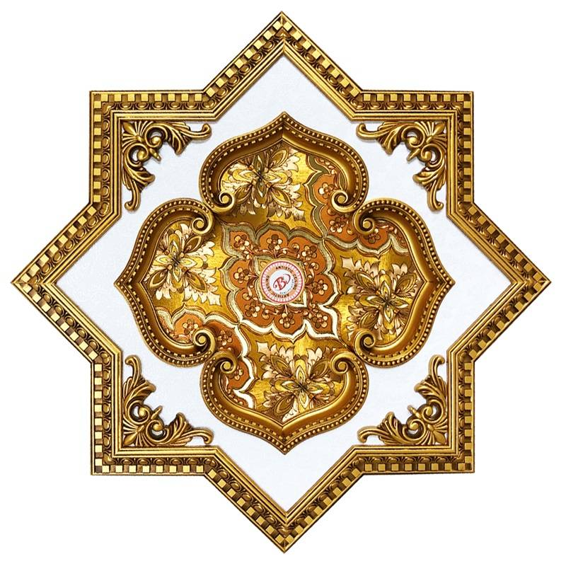 Banruo Artistic Ceiling Design PS Material Colored Ceiling Medallions Panel Tiles For Decoration