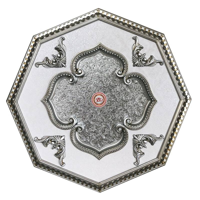 Banruo New Design Artistic Polygon Polystyrene Decorative Ceiling Tiles