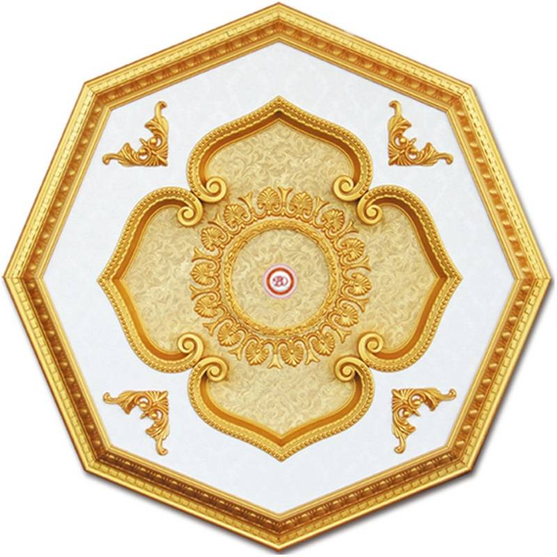 Banruo Artistic Style PS Decoration Plastic Lighting Ceiling Panels Medallion Tiles