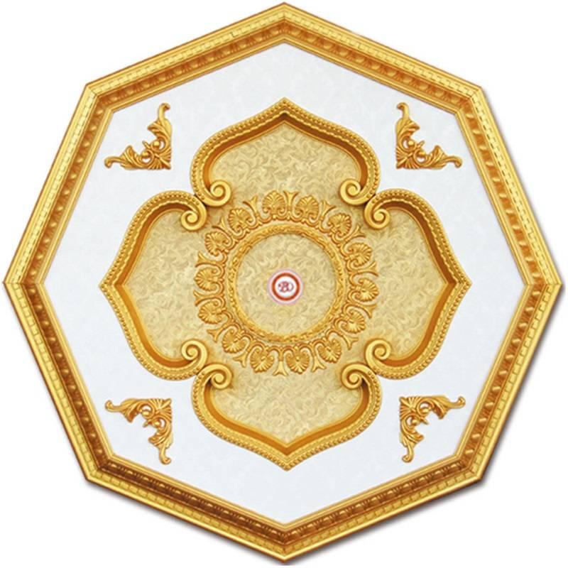 Banruo Artistic Style PS Decoration Plastic Lighting Ceiling Panels Medallion Tiles