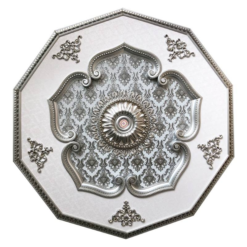 Banruo New Design Artistic Silver plated antique ornate ceiling tiles medallions