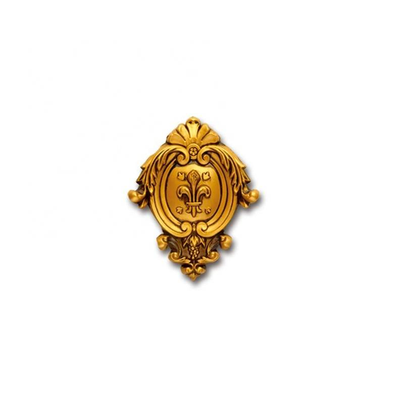 Banruo PS Polystyrene Antique Brass Center Decorative Onlays Mouldings for Wall