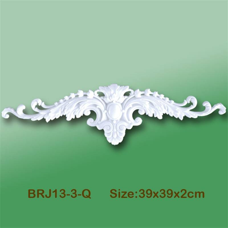 Banruo Bird Style Gold PS Carving Cornice Applique Molding Accessories Veneer Ornament For House Decoration