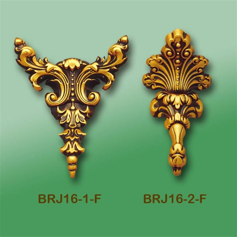 Banruo New Style Gold PS Carving Veneer Ornament Corner Cornice Purchase Appliques Accessories For House Decoration