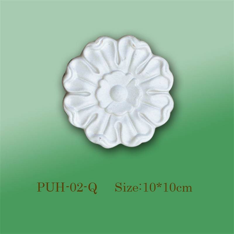 Banruo Wholesale White PU Carving Veneer Ornament Panel Face Molding Appliques Accessories For Furniture Decoration