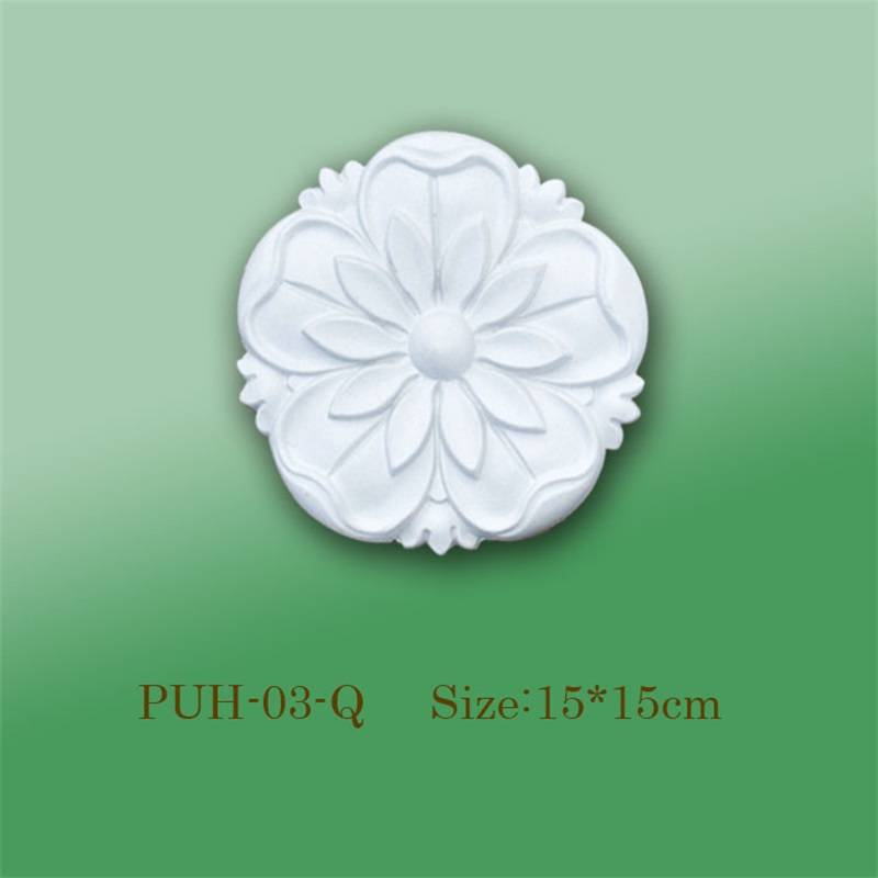 Banruo PS Polystyrene Custom White Decorative Ceiling Rosette For Interior Decoration