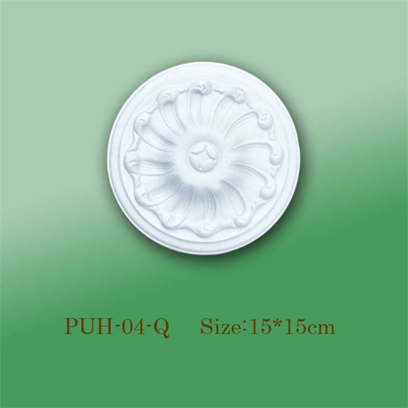 Banruo PS Polystyrene Cheap White Decorative Ceiling Rosette For Hotel Decoration