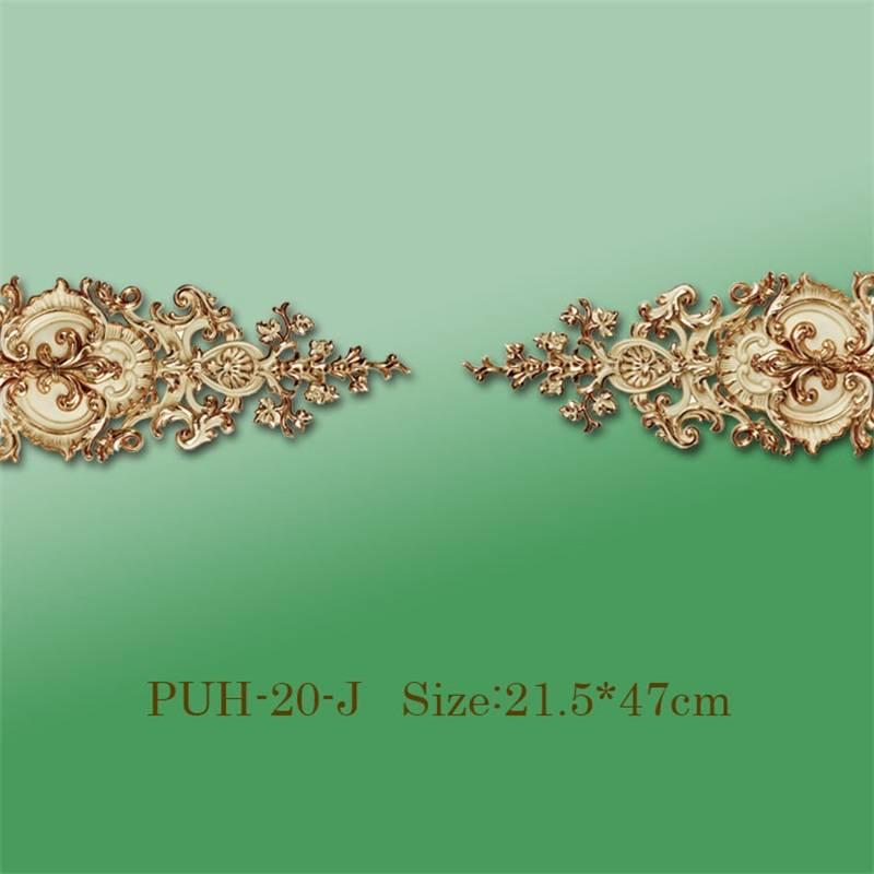 Banruo Antique Polyurethane PU Decorative Molding Corner Appliques for Furniture Decor on Sale