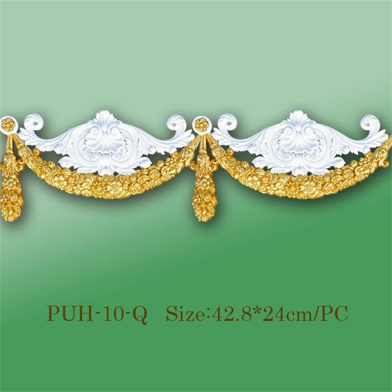 Banruo Highly Decorative Polyurethane PU Appliances and Furniture Onlays Moulding for Decor