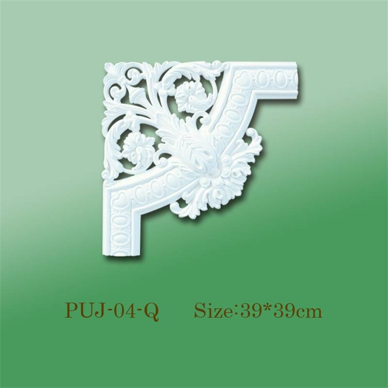 Banruo Ornamental Elements Polyurethane PU Decorative Corner Ornamental Appliques for Furniture Decor on Sale