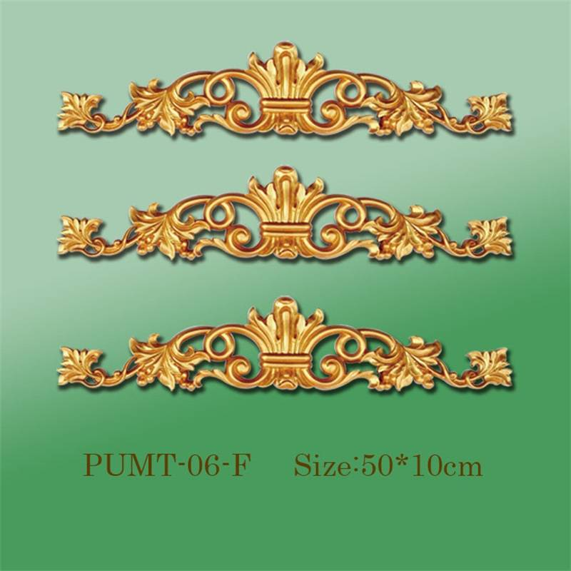 Banruo Factory Wholesale PU Material Decor Panel Hollowed Veneer Ornamental Decoration Accessories For Home
