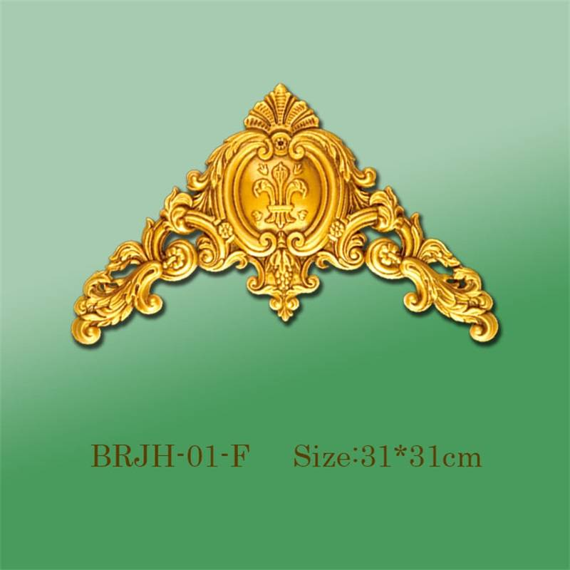 Banruo Modern Antique Gold Plastic Decorative Corner For Home Decoration