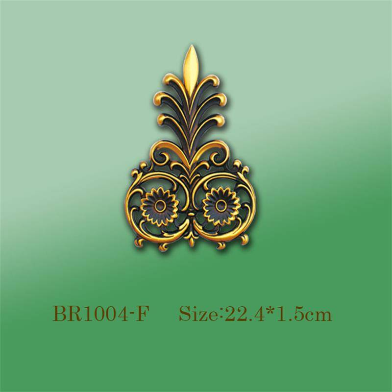 Banruo Best Budget Golden PS Panel Hollowed Veneer Ornament Appliques Accessories For Home Wall Decoration