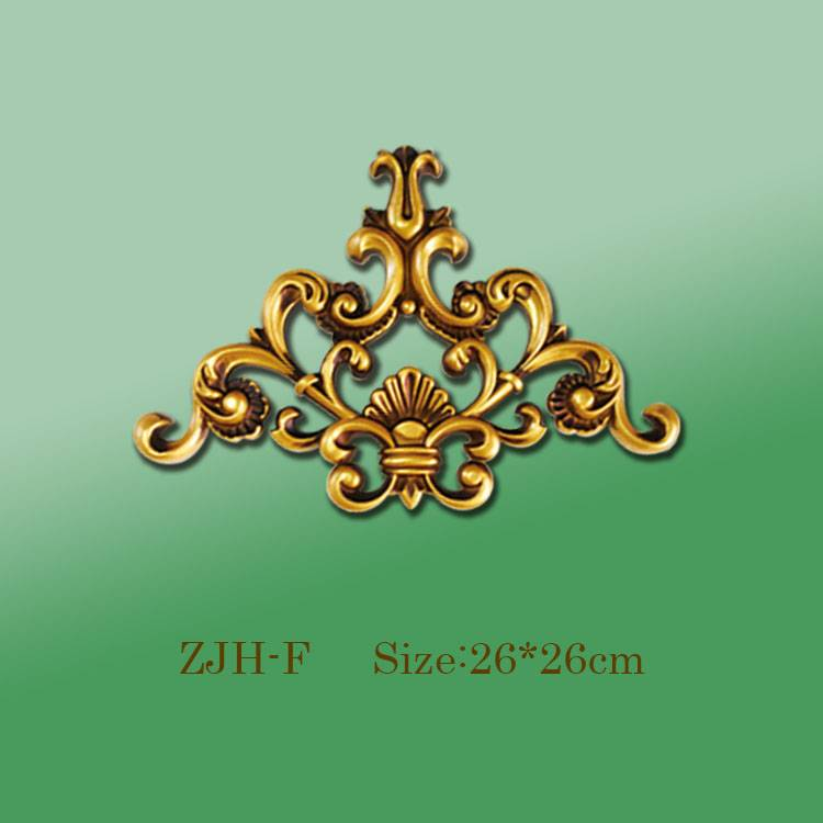 Banruo Wholesale Golden PS Panel Carving Veneer Ornament Corner Decorative Appliques Accessories For Home Ceiling Decoration