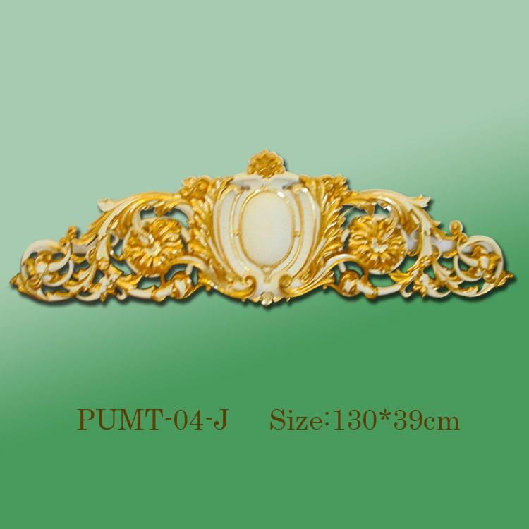 Banruo Wholesale Golden PU Decorative Panel Veneer Ornament Accessories For Home Wall Decoration