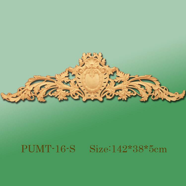 Banruo Wholesale Golden PU Decorative Door Panel Hollowed Veneer Ornament Accessories For Home Wall Decoration