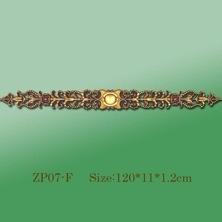 Banruo Wholesale Golden PU Decorative Ceiling Hollowed Veneer Ornament Trim Accessories For Home Decoration