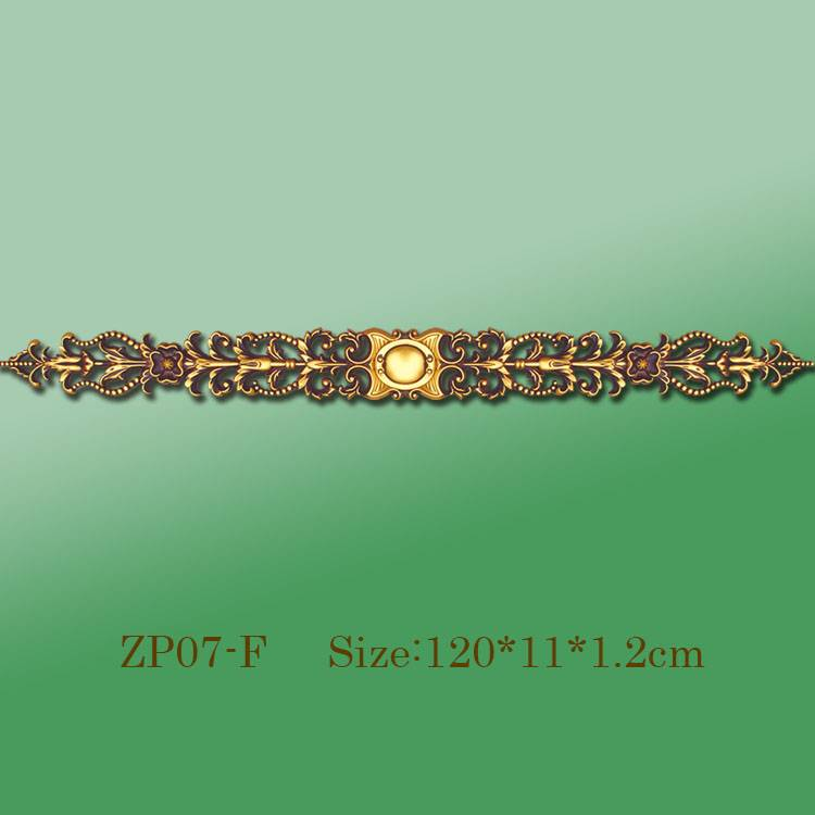 Banruo Wholesale Golden PU Decorative Ceiling Hollowed Veneer Ornament Trim Accessories For Home Decoration
