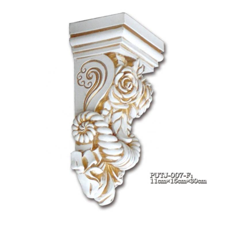 Banruo European Corbel Styles PU Plastic Ceiling Decoration Carved Drag Beam Corbel Moulding