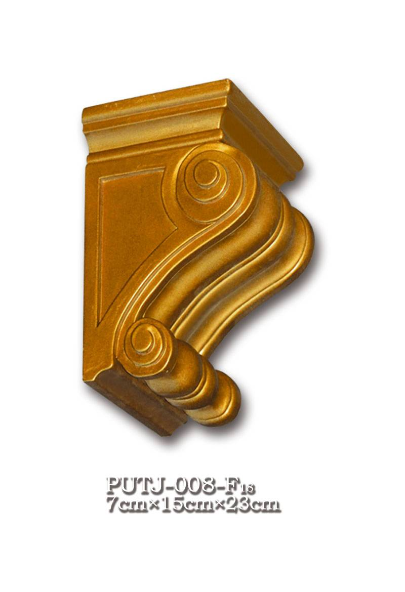 Banruo Corbel Moulding Antique Style Building Decoration Cheap Plastic Polyurethane Wood Like Carved Corbel Mold