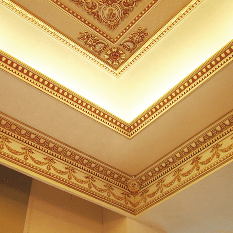 Banruo Hot Selling Plastic European Style Decorative Crown Molding Ceiling Cornice Moulding for Home Decoration