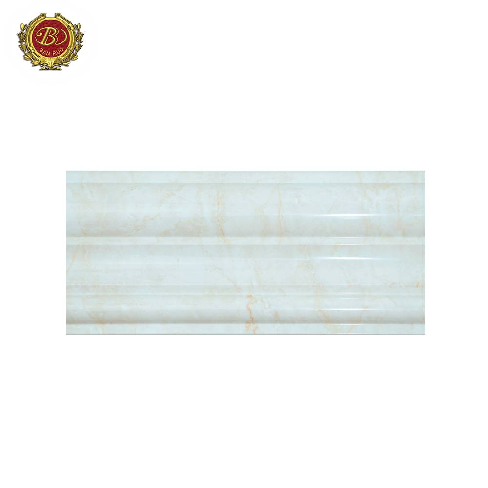 Banruo Low Price PS Polystyrene Marble Pattern Door And Window Molding Chair Rail for Decor
