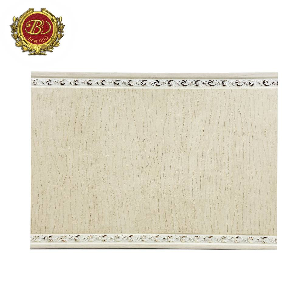 Banruo Hot Sale Custom-Made Classic PS Wall Crown Molding Decorative Flat Moulding