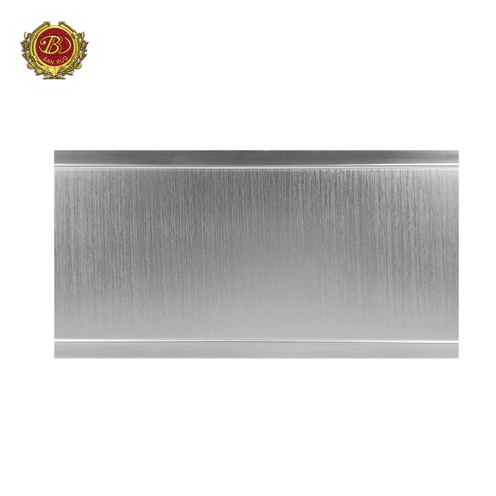 Banruo New Arrival PS French Style Silver Plain Crown Moulding For House Decoration
