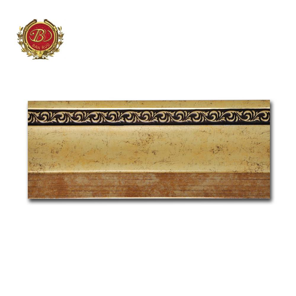 Banruo Low Price French Style Pictures Frame Wall Baseboard Molding For Home Decoration