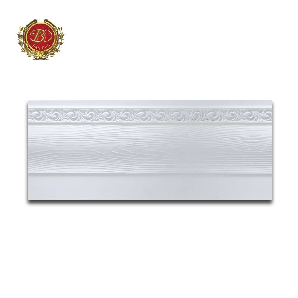 Banruo Wholesale PS Polystyrene Best Baseboard Molding for Interior Decoration