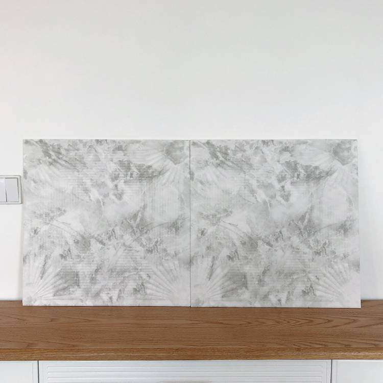 Banruo Cheap Interior Black and White Marble Pattern PS Polystyrene Decorative Foam Wall Tiles