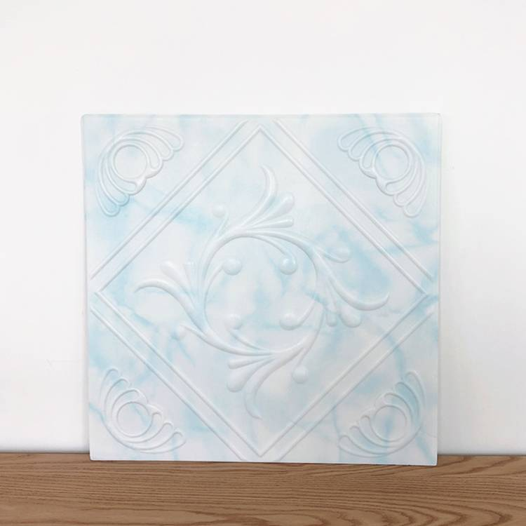 Banruo Cheapest Classic Aqua and White Styrofoam Decor Ceiling Tiles Fancy Wall Paneling