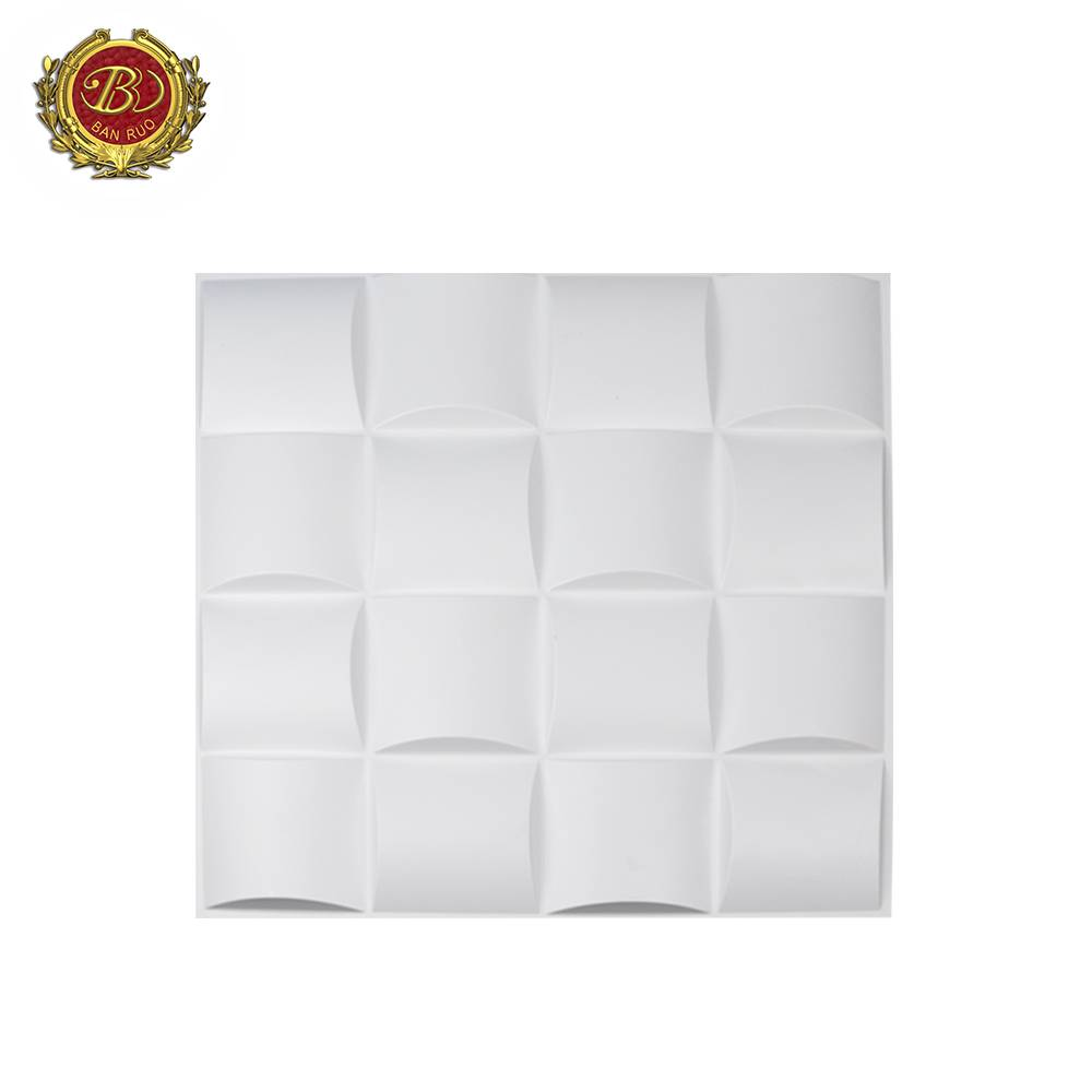 Banruo New Arrival Modern Mould Proof PVC 3D Inside Wall Paneling